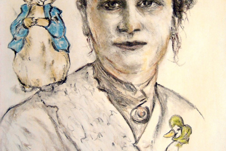 beatrix_potter_petter_rabbit_and_mrs_puddle_duck_by_oliviawaste-d4n1eta